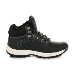 Dámske čierne trekingové topánky - B6445B
