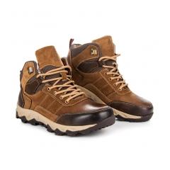Pánske hnedé trekingové topánky - SD96-2BR