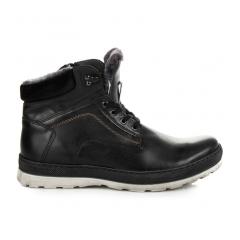 Pánske čierne členkové topánky - 4799B
