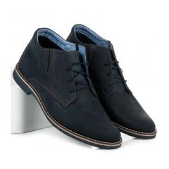 Pánske tmavo modré členkové topánky - 057N/G