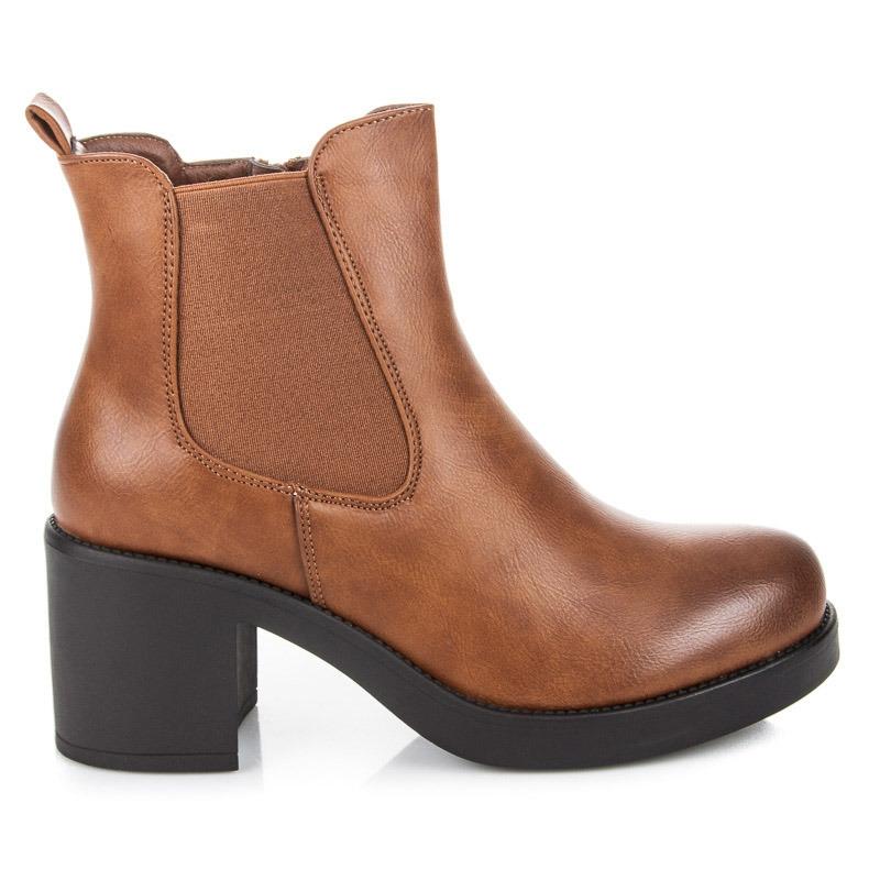 5be6669f5c Dámske hnedé členkové topánky - 2939C