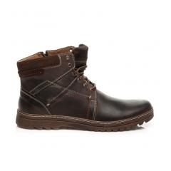 Pánske hnedé kožené členkové topánky - 272BR
