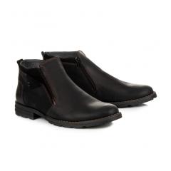 Pánske čierne členkové topánky - 271B