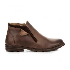 Pánske hnedé členkové topánky - 271BR