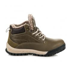 Pánske tmavo zelené trekingové topánky - A6453GR