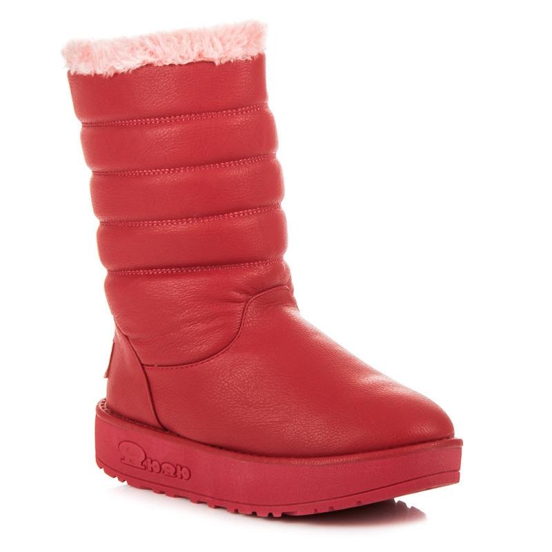 d5f9fb86be2b Dámske červené snehule - 858R