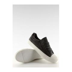 Štýlové tmavo šedé dámske tenisky - bl71p