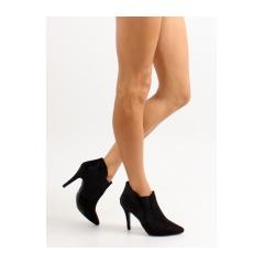 Elegantné dámske čierne topánky - 1080