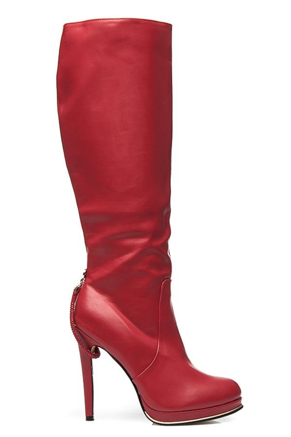 19e2c9a53bac Elegantné dámske červené čižmy - JU858R   S3-12P