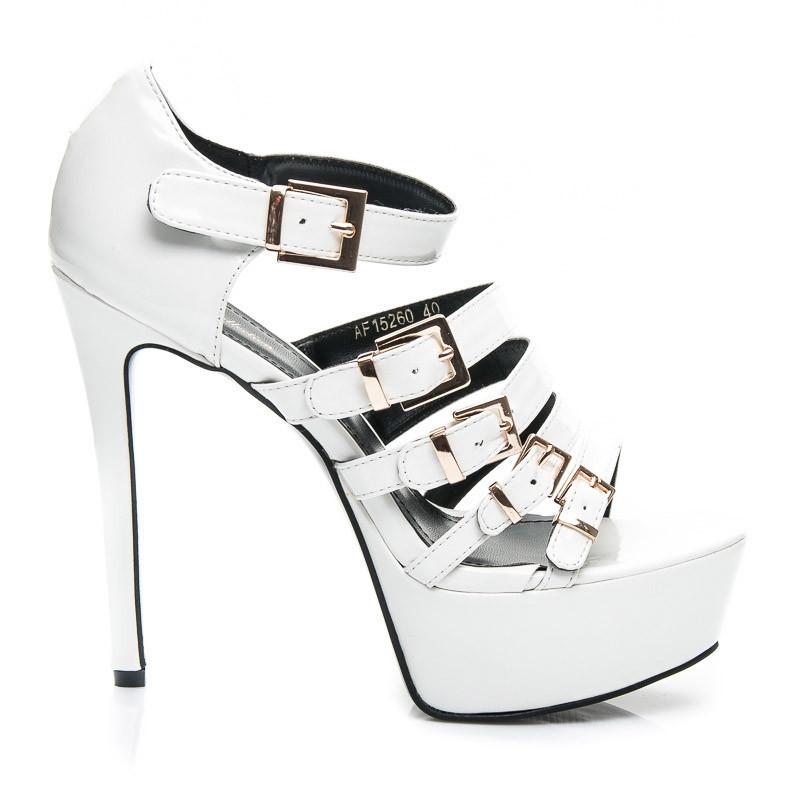 816e34babfdd Štýlové dámske biele sandále - AF15260W   S3-127P