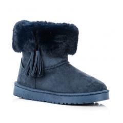 Dámske modré snehule so strapcami - FC229BL