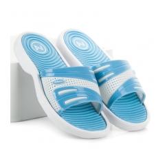 Dámske modré bazénové šľapky - SNS16-5725BL