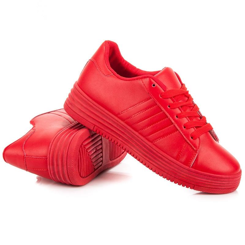 Dámske červené tenisky - F1075R  a5ed12725b