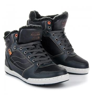 Pánske modré členkové topánky - AP7310N