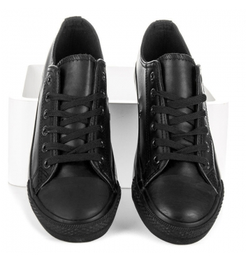 Módne čierne tenisky - TL22B