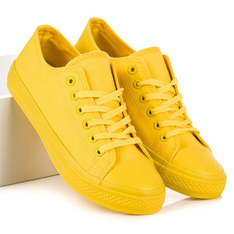 caef3edd76 Dámske žlté tenisky - NB176Y