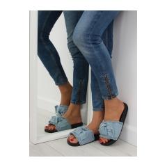 Dámske modré džínsové šľapky - HN55