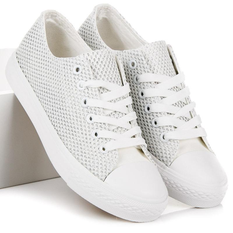 31d4f62042f6 Štýlové dámske biele tenisky - BK6013W