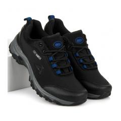 Pánske čierne trekingové topánky AMERICAN - WT1775-1B-BL
