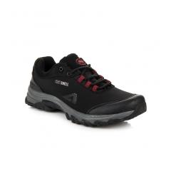 Pánske čierne trekingové topánky AMERICAN - WT1775-1B-R