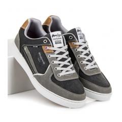 Pánske šedé športové tenisky - 703021B