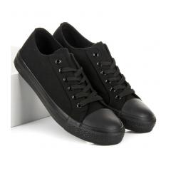 Pánske čierne tenisky NEW AGE - 0083FU/B