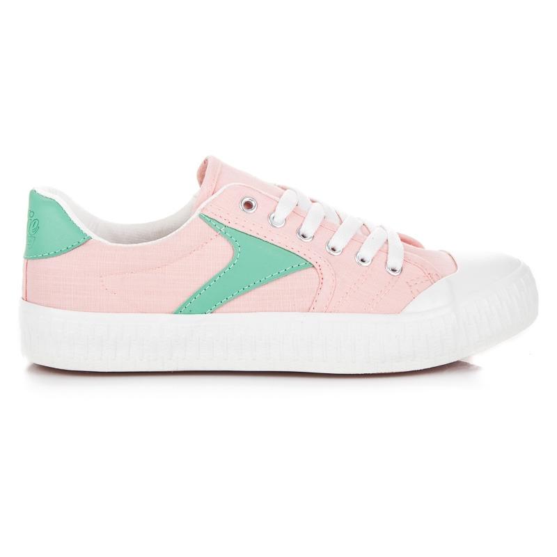 c0481c78dc67 Dámske ružové tenisky na platforme - K1830402RO