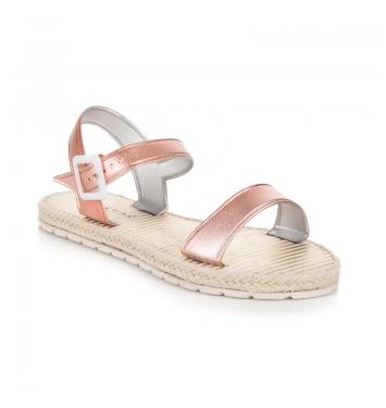 Dámske ploché ružové sandále s prackou - OC16-10202P