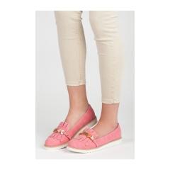 Dámske ružové mokasíny s korálkami - 7213-19R