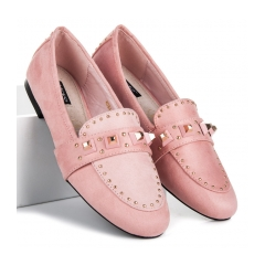 Dámske ružové semišové mokasíny - 8364-20P