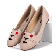 Dámske béžové balerínky KITTY - 9055-14BE