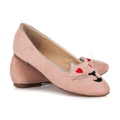 Dámske ružové balerínky KITTY - 9055-20P