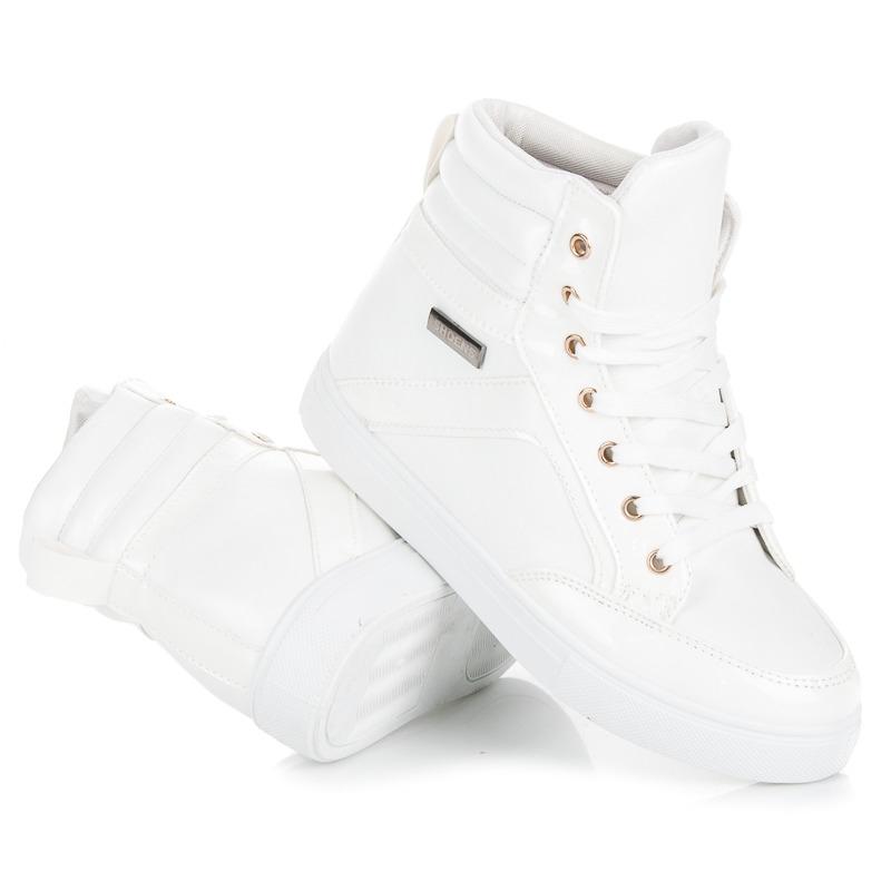 9eb893c613cc Dámske biele členkové tenisky - N-16W
