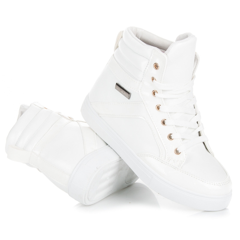 736d3f1fce Dámske biele členkové tenisky - N-16W
