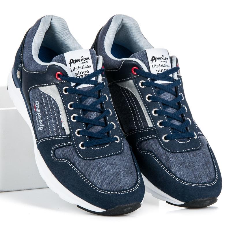 Pánske modré športové tenisky - 704062N  eb4996b74f0