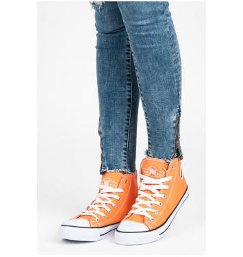 Vysoké oranžové dámske tenisky - 082OR
