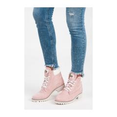 Ružové semišové workery - 1169-20P