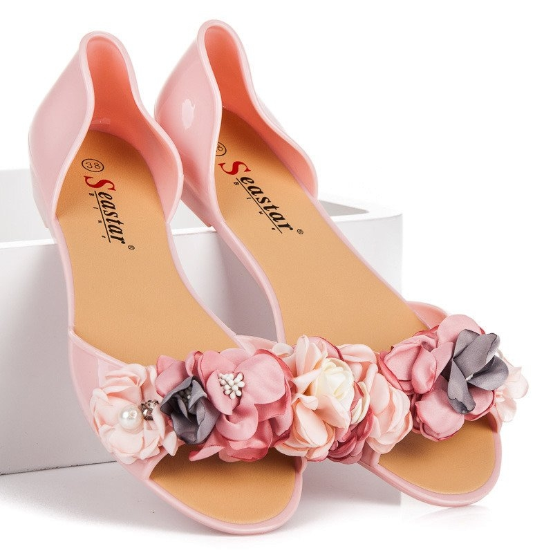 df2a2978f7 Dámske ružové gumové sandále - LS-06P