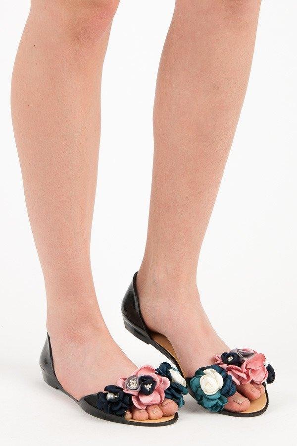 e7073251a Dámske čierne gumené sandále - LS-06B | dawien.sk