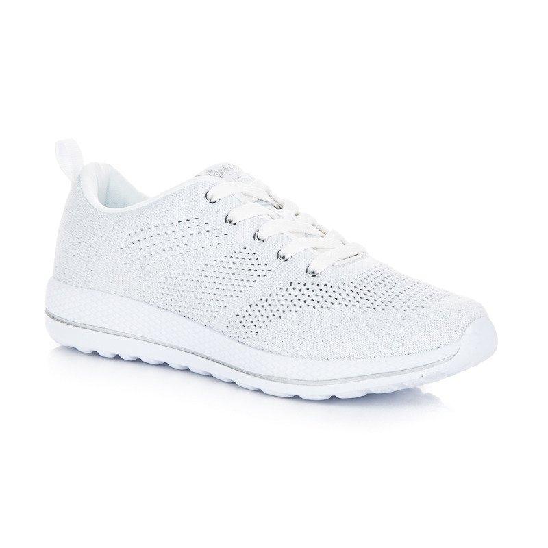 35bfbebe8e1fe Dámske biele tenisky AMERICAN - W-858W | dawien.sk