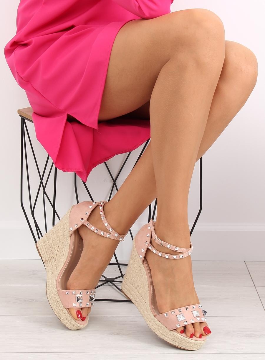 5afc7cc0d0774 Dámske ružové sandále na platforme - 100-862SC | dawien.sk