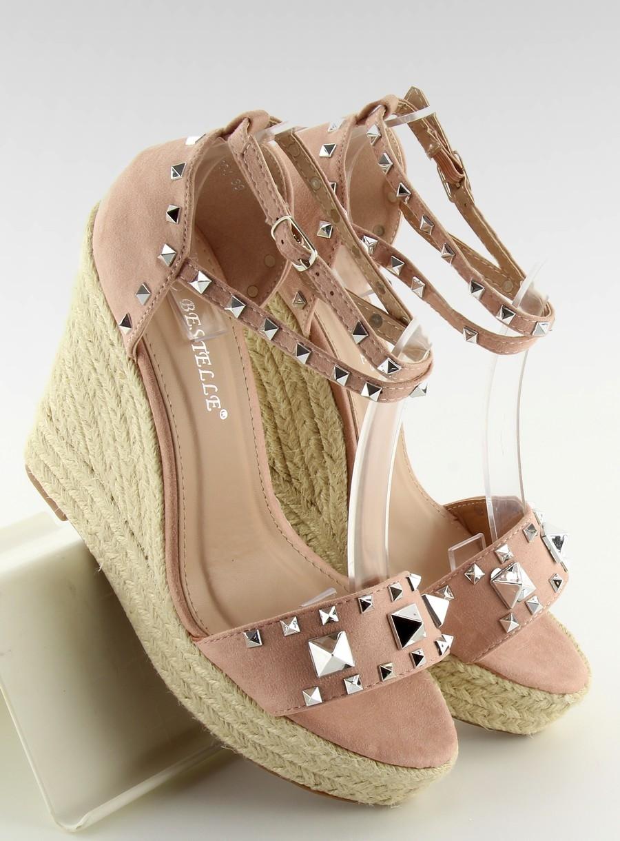 0264e799c9 Dámske ružové sandále na platforme - 100-862SC