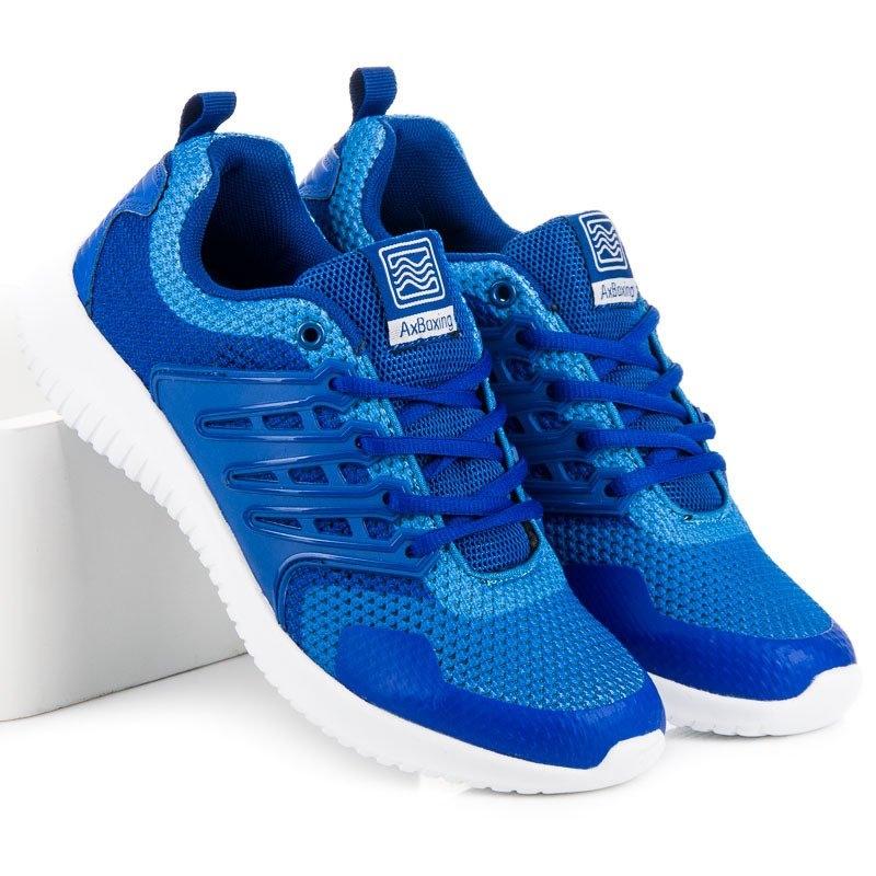 471a16c7b2177 Pánske modré bežecké tenisky - A8183BL | dawien.sk
