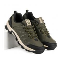 Pánske zelené trekingové topánky  - A8178OL/GR