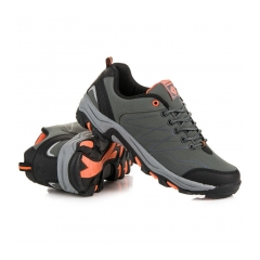 Pánske šedé trekingové topánky  - A8178D.G
