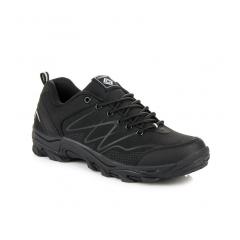 Pánske čierne trekingové topánky  - A8178B