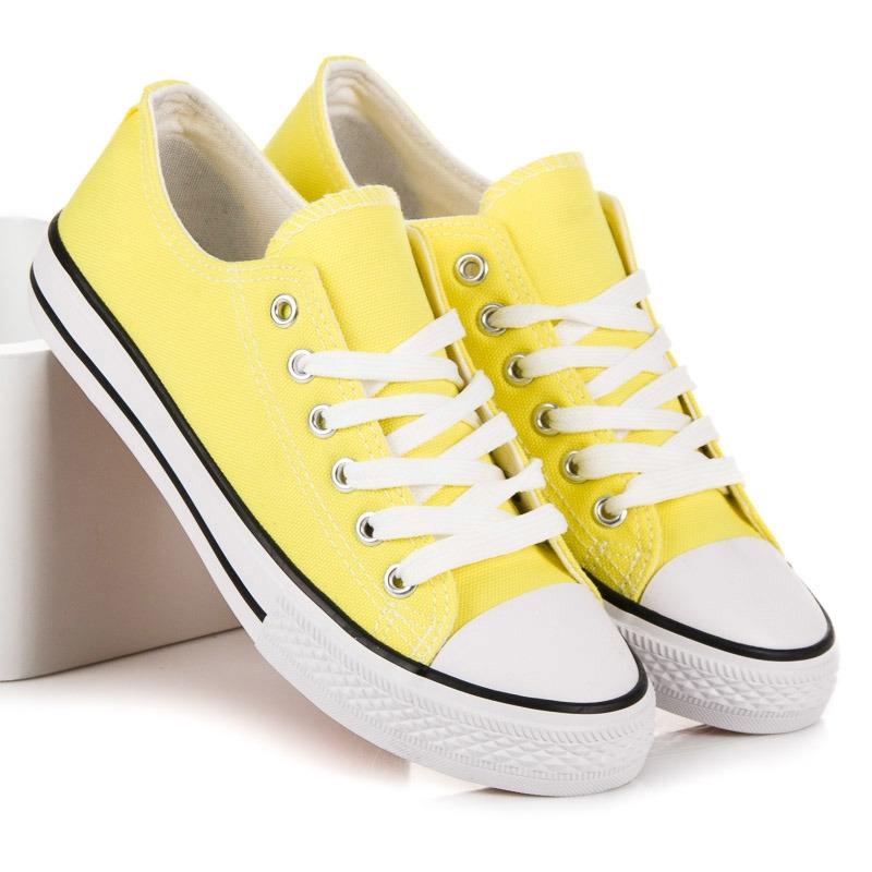 bf5f1ef236 Klasické dámske žlté tenisky - XL03Y