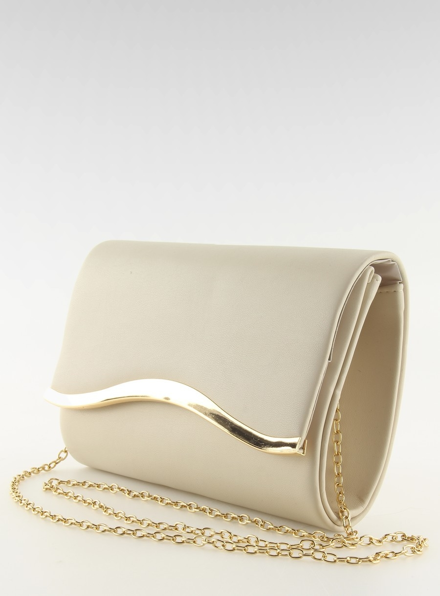 Dámska béžová listová kabelka  126fd6ff1d9
