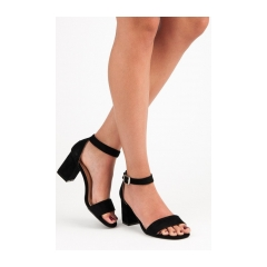 Dámske čierne semišové sandále  - YQE18-1752B