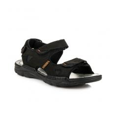 Pánske čierne kožené sandále - REF18-9710B